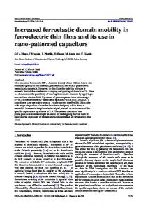 Increased ferroelastic domain mobility in ferroelectric thin films and its ...
