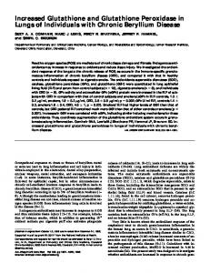 Increased Glutathione and Glutathione Peroxidase ... - Semantic Scholar