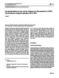 Increased health service use for asthma, but ... - Springer Link