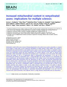 Increased mitochondrial content in remyelinated ... - Semantic Scholar