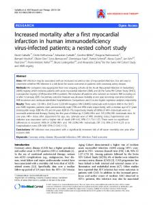 Increased mortality after a first myocardial infarction in ... - Springer Link