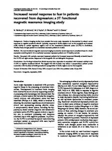 Increased neural response to fear in patients recovered ... - CiteSeerX