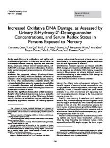 Increased Oxidative DNA Damage, as Assessed by ... - CiteSeerX