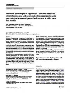 Increased percentages of regulatory T cells are ...