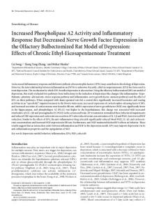 Increased Phospholipase A2 Activity and ... - Semantic Scholar