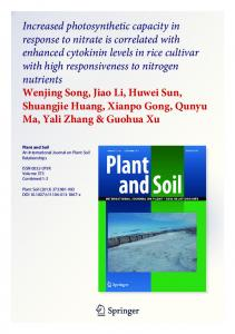 Increased photosynthetic capacity in response to