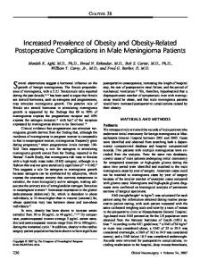 Increased Prevalence of Obesity and Obesity ... - Semantic Scholar