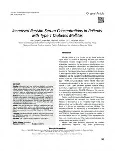 Increased Resistin Serum Concentrations in Patients ...
