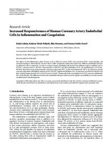 Increased Responsiveness of Human Coronary Artery Endothelial ...