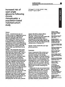 Increased risk of open-angle glaucoma following chronic ... - Nature