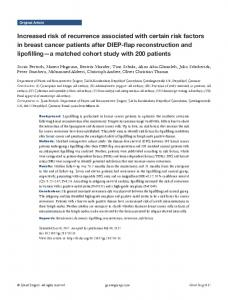 Increased risk of recurrence associated with certain risk factors in ...