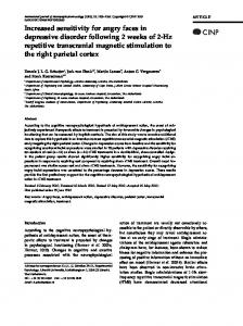 Increased sensitivity for angry faces in depressive ... - Semantic Scholar