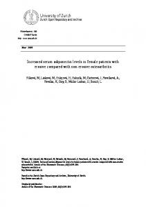 Increased serum adiponectin levels in female patients with erosive ...
