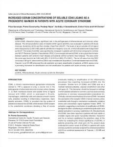increased serum concentrations of soluble cd40 ligand as a ... - MedIND