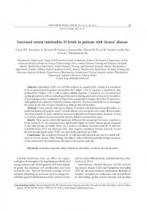 increased serum interleukin-33 levels in patients with