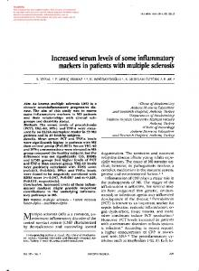 Increased serum levels of some inflammatory markers
