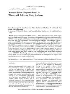 Increased Serum Neopterin Levels in Women with Polycystic Ovary ...