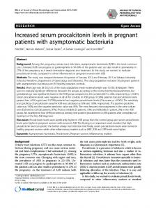 Increased serum procalcitonin levels in pregnant patients with ... - Core