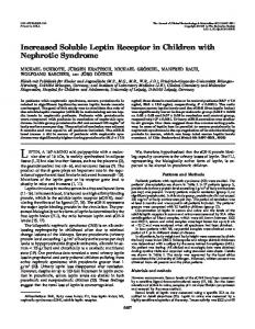 Increased Soluble Leptin Receptor in Children with Nephrotic Syndrome