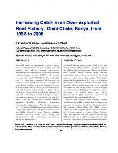 Increasing Catch in an Over-exploited Reef Fishery ...