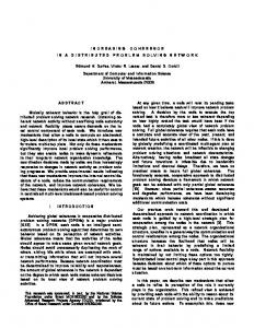 INCREASING COHERENCE IN A DISTRIBUTED ... - Semantic Scholar