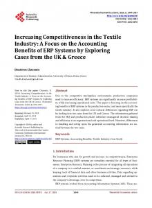 Increasing Competitiveness in the Textile Industry: A