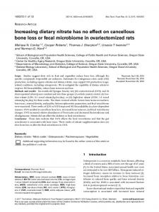 Increasing dietary nitrate has no effect on ... - Wiley Online Library
