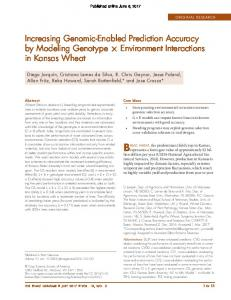 Increasing Genomic-Enabled Prediction Accuracy by ...