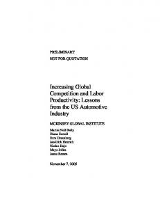 Increasing Global Competition and Labor Productivity: Lessons from ...
