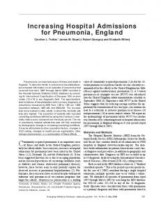Increasing Hospital Admissions for Pneumonia, England - Centers for ...