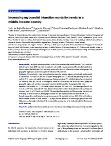 Increasing myocardial infarction mortality trends in a middle-income