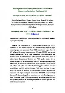 Increasing Polybrominated Diphenyl Ether (PBDEs ... - Core