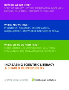 INCREASING SCIENTIFIC LITERACY A SHARED RESPONSIBILITY