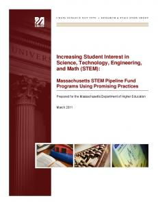 Increasing Student Interest in Science, Technology, Engineering ...