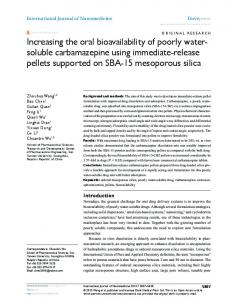 Increasing the oral bioavailability of poorly water-soluble ...