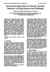 Incremental Approaches for Network Anomaly ... - Semantic Scholar