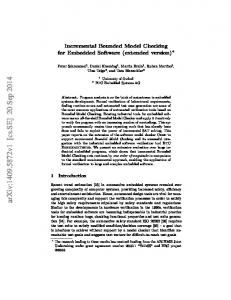 Incremental Bounded Model Checking for Embedded Software ...
