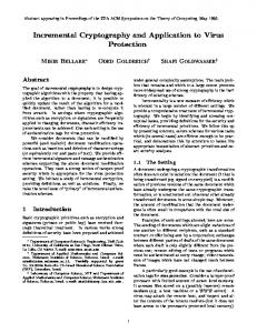 Incremental Cryptography and Application to Virus ... - CiteSeerX