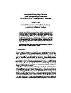 Incremental Learning of TBoxes from Interpretation ... - TU Dresden