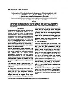 Indanylation of Phenol with Indene in the presence of