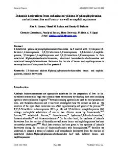 Indazole derivatives from substituted ylidene-N ... - Arkivoc