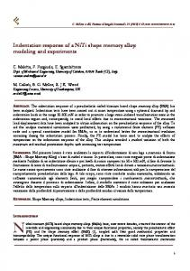 Indentation response of a NiTi shape memory alloy - Gruppo Italiano ...