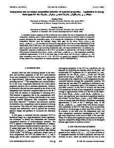 Independent and correlated composition behavior of material properties