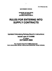 INDEX TO ANNEXURES - North Eastern Railway - Indian Railway