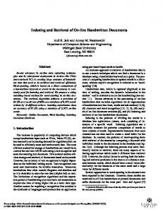 Indexing and Retrieval of On-line Handwritten Documents