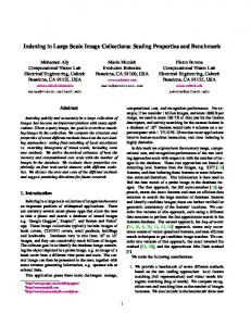Indexing in Large Scale Image Collections - Semantic Scholar