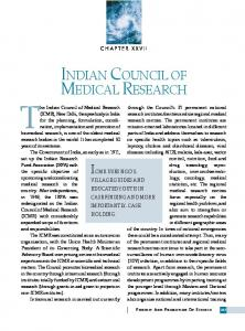 indian council of medical research - Indian Institute of Science