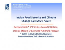 Indian Food Security and Climate