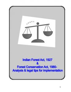 Indian Forest Act, 1927 - Jeevika