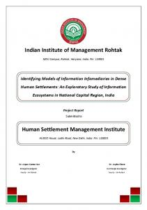 Indian Institute of Management Rohtak Human ...